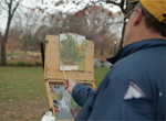 Artist Jon Browning is both a plein air painter and a criminal law attorney