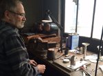 Metal spinning artist Paul Trageser who repairs and restores antique silver.